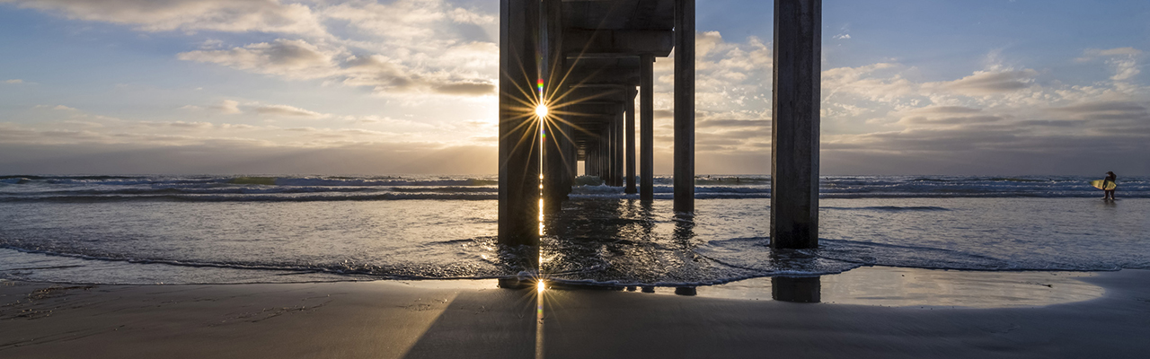 Scripps Pier at sunset